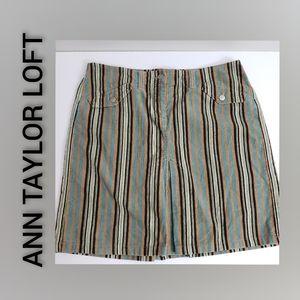 Ann Taylor Loft Striped Skirt NWT Size 12